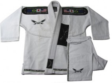 BJJ Diamond Weave White Gi