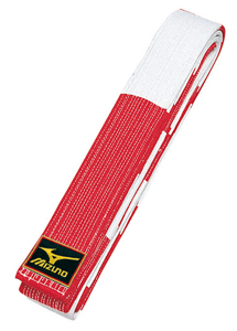 Mizuno Rokudan Master Red & White Belt